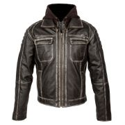 Spada Peacedog Leather Jacket Vintage Black